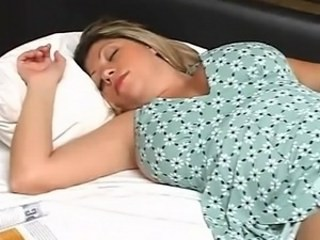 Big Tits MILF Sleeping Strapon