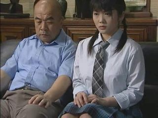 Asian Daddy Daughter Old and Young Pigtail Strapon Student Teen Uniform Young