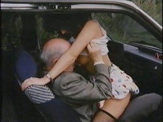 Car Clothed Daddy MILF Outdoor Riding Strapon Vintage