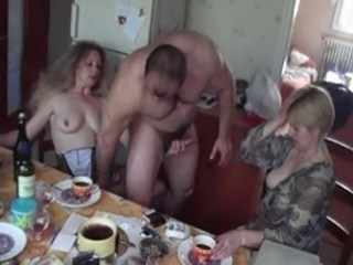 Amateur Dronken Rukbeurt Rijp Strap-on Trio