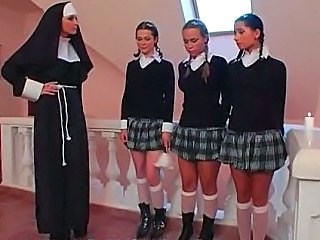 Lesbian Nun Strapon Student Teen Uniform Young