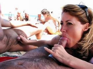 Amateur Beach Blonde Blowjob MILF Nudist Outdoor Public Strapon Threesome
