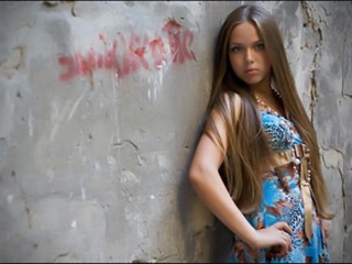 Amazing Brunette Cute Long hair Strapon Teen Young