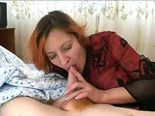 Amateur Blowjob Mature Mom Old and Young Redhead Russian Strapon