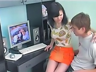 Amateur Girlfriend Russian Skirt Strapon
