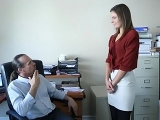 Daddy Office Old and Young Secretary Strapon Teen Young