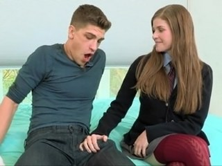 Handjob Strapon Student Teen Uniform Young