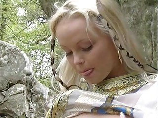 Blonde Cute Fantasy Outdoor Pregnant Strapon Stripper
