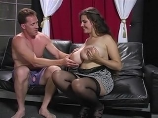 Big Tits Brunette MILF Pornstar Stockings Strapon Vintage