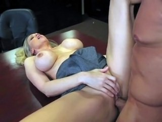 Amazing Big Tits Hardcore MILF Office Pornstar Silicone Tits Strapon
