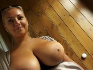 Amazing Big Tits MILF Natural Strapon