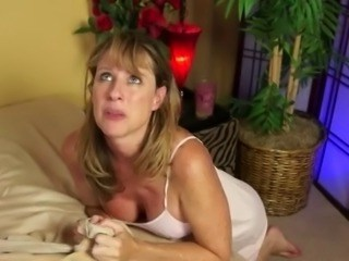 Blonde Mature Mom Strapon
