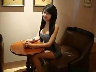 Amazing Asian Brunette Cute Glasses Strapon Teen Young