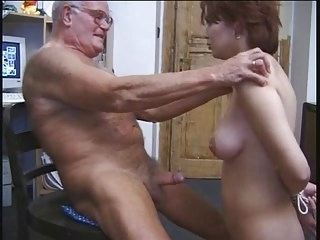 Bondage Daddy Daughter Old and Young Slave Small cock Strapon