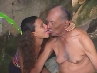 Daddy Daughter Licking Old and Young Strapon