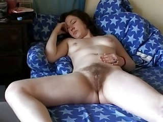 Amateur Hairy MILF Sleeping Small Tits Strapon