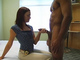 Big cock Handjob Interracial MILF Strapon