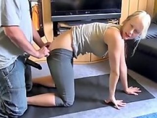 Blonde Daughter Doggystyle Strapon Teen Vintage Young