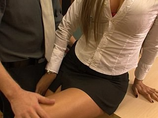 MILF Office Secretary Skirt Stockings Strapon