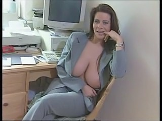 Amazing Big Tits MILF Natural Office Secretary Strapon