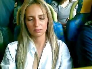 Amateur Bus MILF Public Sleeping Strapon