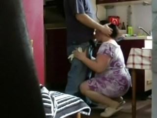Blowjob Clothed  Kitchen Mature Mom Strapon Voyeur