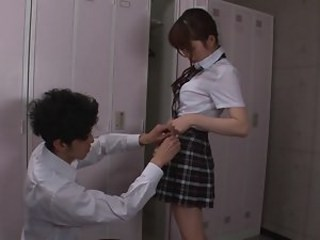 Asian Skirt Strapon Student Teen Uniform Young