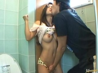 Amazing Asian Japanese Kissing MILF Strapon Toilet