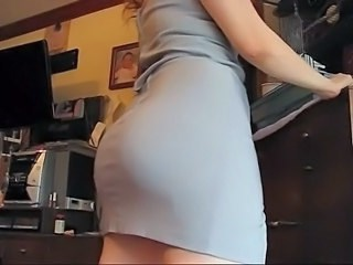 Ass MILF Skirt Strapon