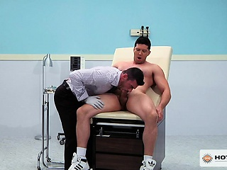 Athlete Soto shoves his monster meat up Dr. Santoro's ass