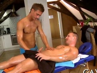 Massage with amazing oiled up hunks