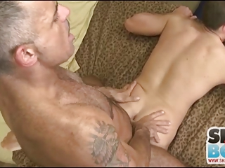 Hot Mature Man Sucks and Fucks Younger Dude