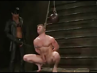 Heavy bondage and leather anal