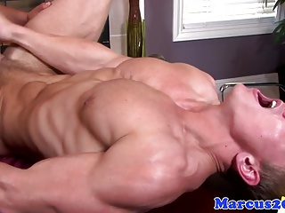 Latin hunk sucks and fucks muscled jock