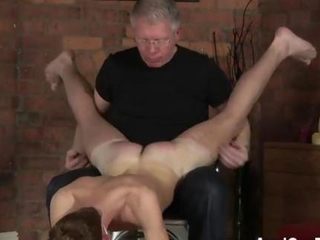Old pervert plays with a bound twink