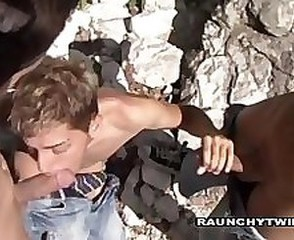 Threesome Outdoor Company Gay Fucked