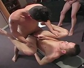 Handsome Raunchy Boys Having Fun In The Man Cave