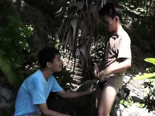 Piss thirsty gay asians drinking loads