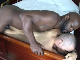 Bareback interracial big black and slim white