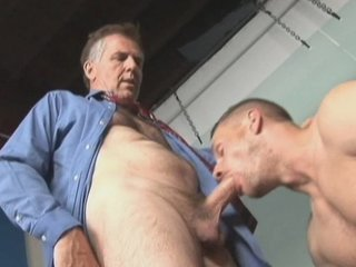 Suit+tie daddy oral+anal