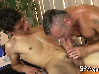 Succulent oral sex for studs