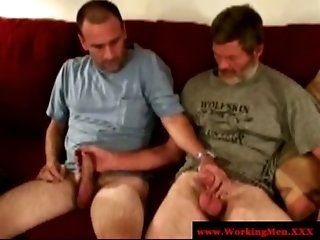 Three straight redneck try gay blowjob