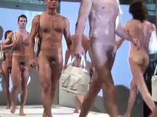 Straight Guys in nude fashion show