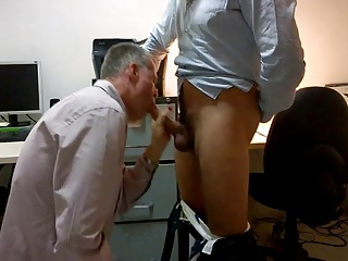 Tall HUNG Hotel Manger Feeds Guest Cum