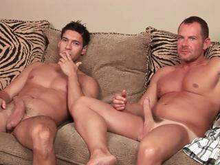 Muscular Latino hunk has gay sex while his girlfriend has pleaded for him not to. Cash is too good.