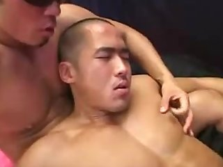 japanese muscle guys threesome( that bottom is just lucky!!!)