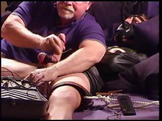 I jack a leather straitjacketed stud while turning up the juice on my electro stim machine.