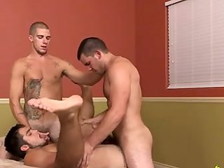 Hot studs run a bareback train