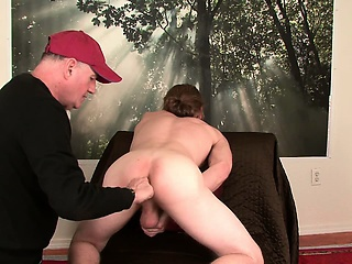 Str8 scruffy Wisconsin farm boy's first gay bj,rim job and finger.