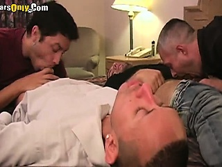 Sizzling Blowjob Foursome